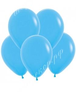 """Шар 12"""" (30 см) (040) голубой матовый"""