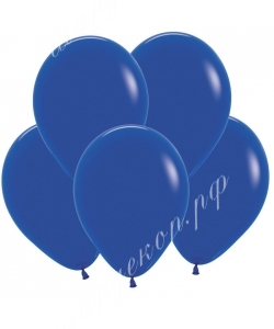 """Шар 12"""" (30 см) (041) синий матовый"""