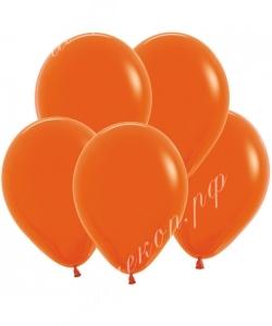 """Шар 12"""" (30 см) (061) оранжевый матовый"""