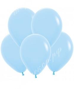"""Шар 12"""" (30 см) (140) светло-голубой матовый"""