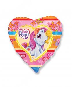 Воздушный шар (18''/46 см) Сердце, Моя маленькая пони, 1 шт.