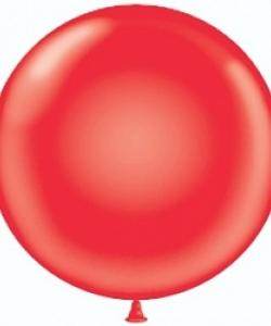 Шар (24''/61 см) Красный, пастель