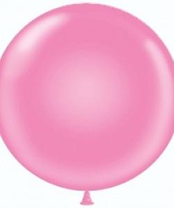 Шар (24''/61 см) Розовый, пастель