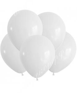 """Шар 12"""" (30 см) (005) белый матовый"""