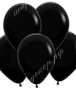"""Шар 12"""" (30 см) (080) черный матовый"""