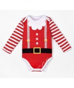 """Боди детское с длин.рук """"Santa Baby"""" 100% хл."""