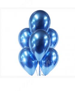 Шар (12''/30 см) Синий, хром
