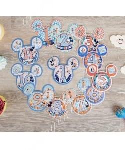 Наклейки для фотографирования И карта достижений «Малыш», Микки Маус