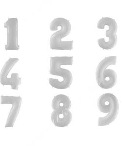 Цифра белая