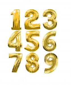 Цифра золото яркое