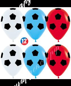 """Шар 12"""" (30 см) Футбольный мяч - флаг России"""