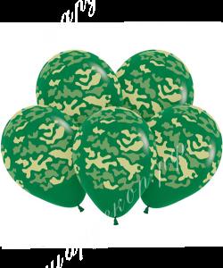 """Шар 12"""" (30 см) Камуфляж, темно-зеленый"""