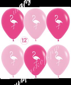 """Шар 12"""" (30 см) Фламинго розовый микс"""