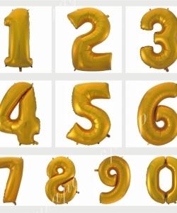 Цифра золото темное