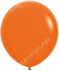 """Шар 18"""" (46 см) (061) оранжевый матовый"""