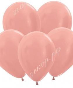 "Шар 12"" (30 см) (568) розовое золото металлик"