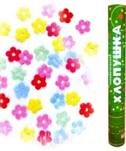 """Хлопушка """"Металлизированные цветы"""", 40 см"""