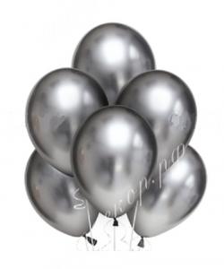 "Шар 12"" (30 см) Серебро, хром"