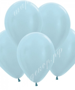 "Шар 12"" (30 см) (440) голубой перламутр"