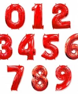 Цифра красная